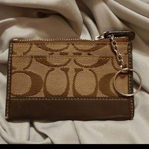Coach change purse/keyring wallet